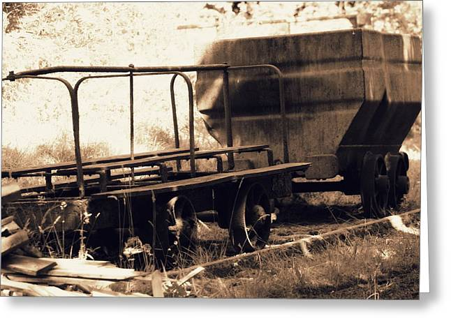 Old Mining Carts Greeting Card by Frances Lewis