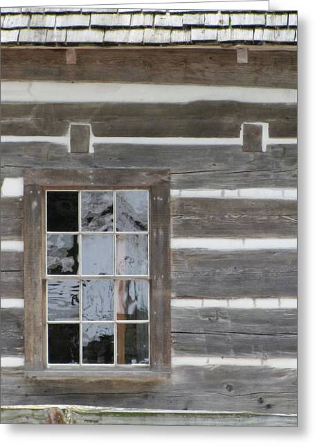 Cabin Window Greeting Cards - Old Mission Reflections Greeting Card by Kelly Mezzapelle