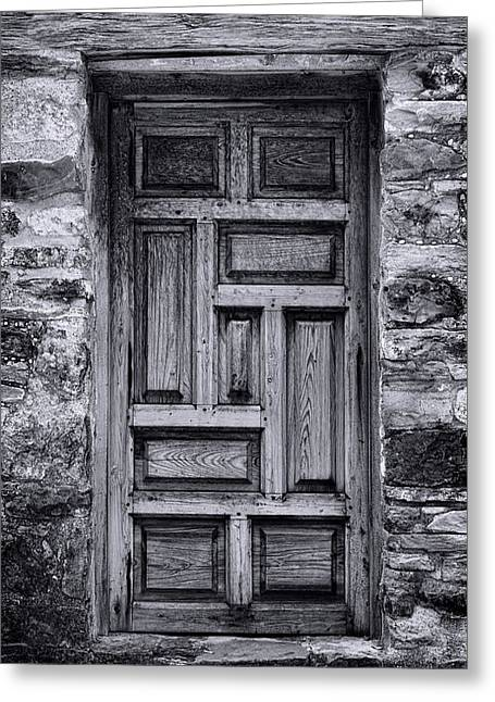 Catholic Mission Greeting Cards - Old Mission San Jose Door Greeting Card by Stephen Stookey