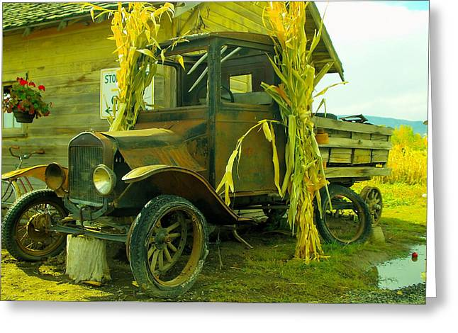 Old Model T  Greeting Card by Jeff Swan
