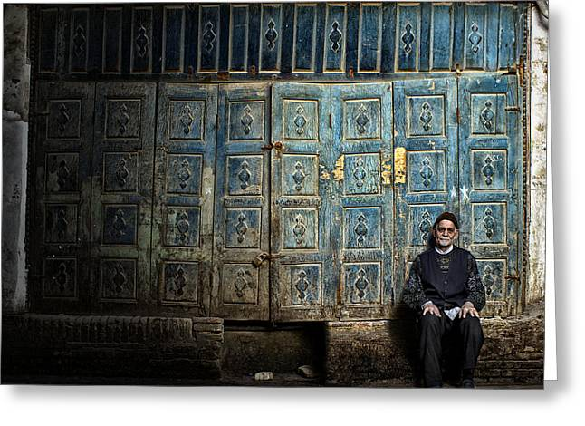 People Greeting Cards - Old Greeting Card by Mohammad Reza Akhoondi