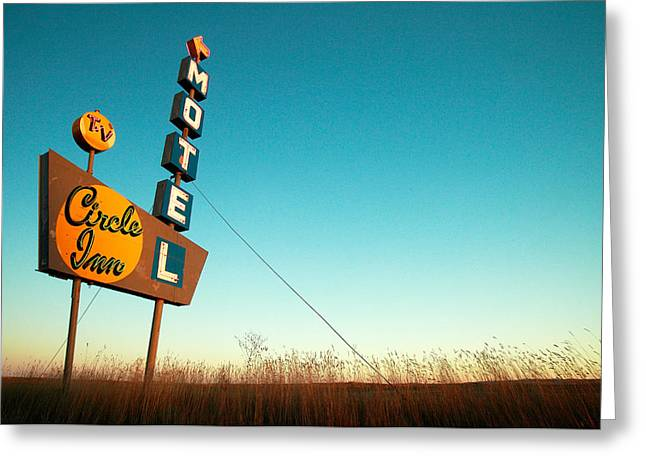 Old Motel Neon Greeting Card by Todd Klassy