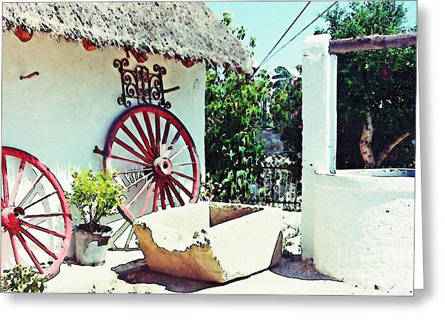 Thatch Digital Greeting Cards - Old Murcia Greeting Card by Sarah Loft