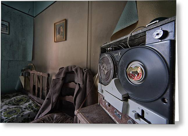 Tape Recorder Greeting Cards - Old music - urban exploration Greeting Card by Dirk Ercken