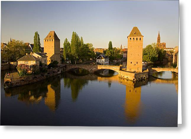 Reflexion Greeting Cards - Old Neighbourhood Of Petite-france Greeting Card by John Sylvester