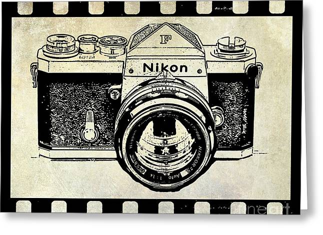 Old Film Greeting Cards - Old Nikon F Greeting Card by Jon Neidert