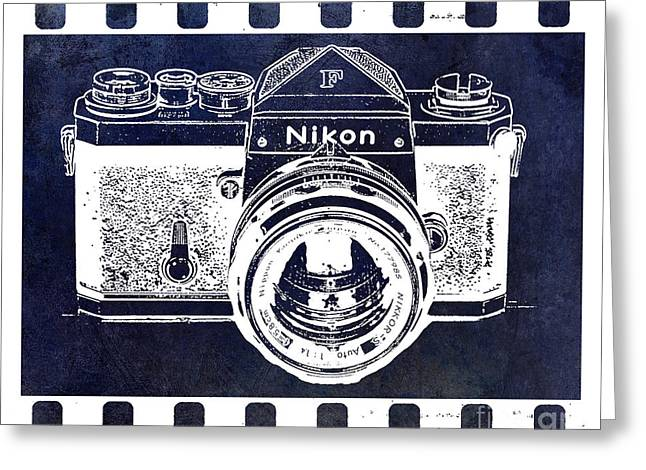 Old Film Greeting Cards - Old Nikon F Negative Greeting Card by Jon Neidert