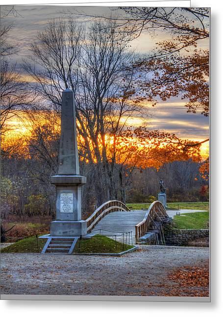 Old North Bridge - Concord Ma Greeting Card by Joann Vitali