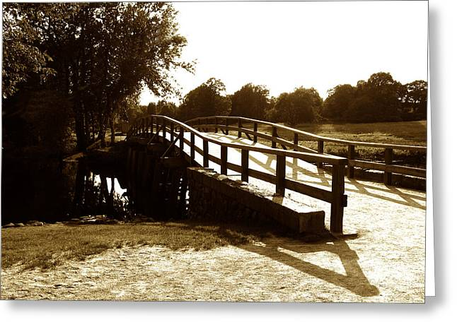 Battle Of Concord Greeting Cards - Old North Bridge Greeting Card by Desiree Schmidt