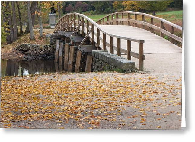 Concord Greeting Cards - Old North Bridge Greeting Card by Tracy Dugas