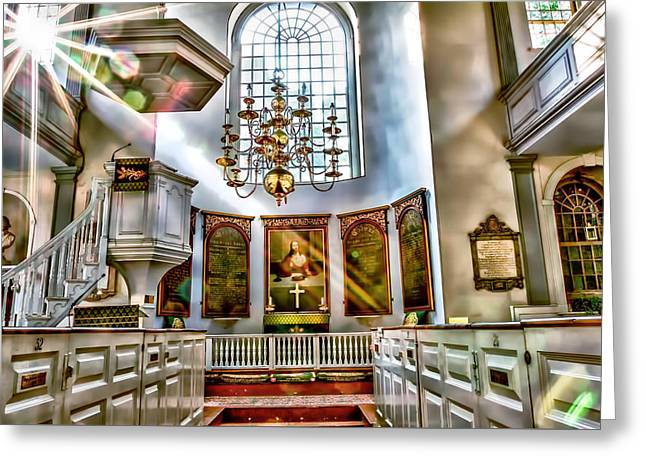 Recently Sold -  - North Sea Greeting Cards - Old North Church Greeting Card by Larry  Richardson