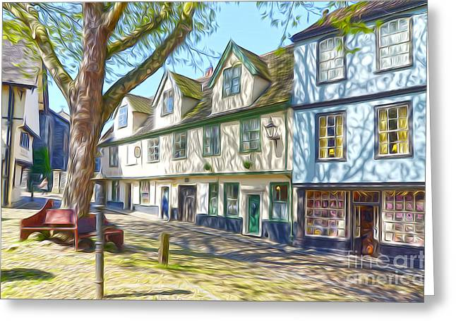 Elm Digital Art Greeting Cards - Old Norwich Greeting Card by John Boud