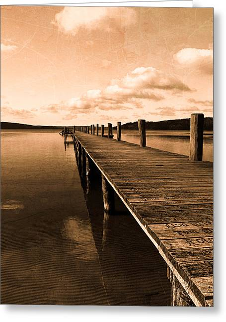 Ahead Greeting Cards - Old oak bridge Greeting Card by Toppart Sweden