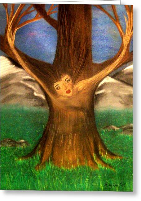 Metamorphasis Greeting Cards - Old Oak Tree Greeting Card by Misty VanPool
