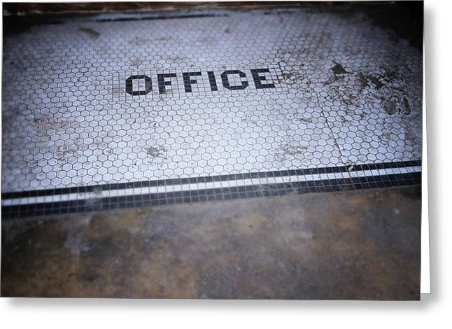 Old Office- Urban Photography By Linda Woods Greeting Card by Linda Woods