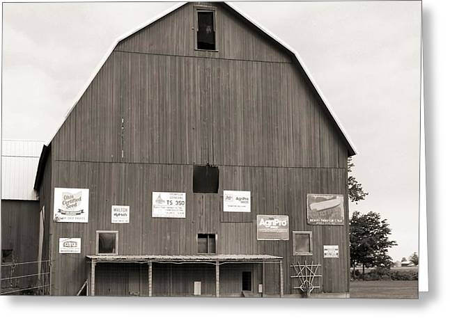 Old Barns Greeting Cards - Old Ohio Barn Greeting Card by Dan Sproul
