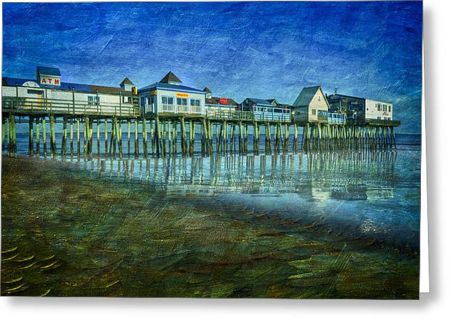 Old Orchard Beach Pier  Oob Greeting Card by Susan Candelario