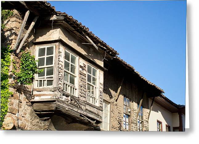 Abandoned Houses Greeting Cards - Old Ottoman building Greeting Card by Tom Gowanlock