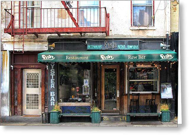 Raw Oyster Greeting Cards - Old Oyster Bar New York City Greeting Card by Dave Mills