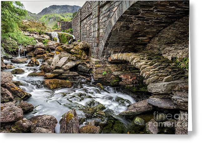 Bridge Greeting Cards - Old Packhorse Bridge  Greeting Card by Adrian Evans