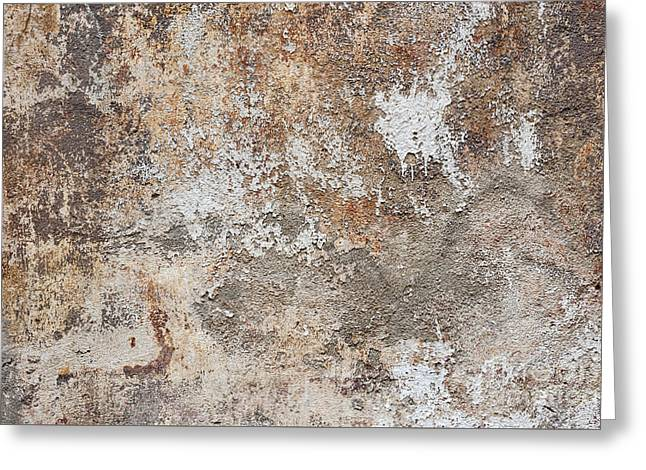 Plaster Greeting Cards - Old painted wall Greeting Card by Elena Elisseeva