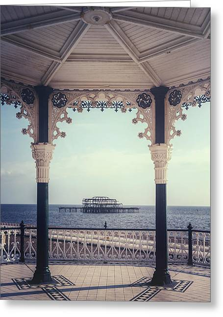 Bandstand Greeting Cards - old pier Brighton Greeting Card by Joana Kruse