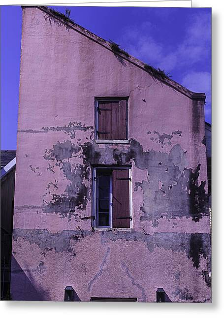 Big Easy Greeting Cards - Old Pink Building Greeting Card by Garry Gay
