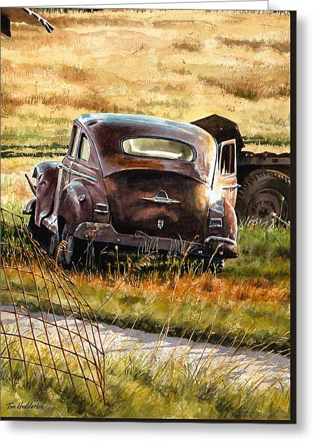 Old Plymouth Greeting Card by Tom Hedderich