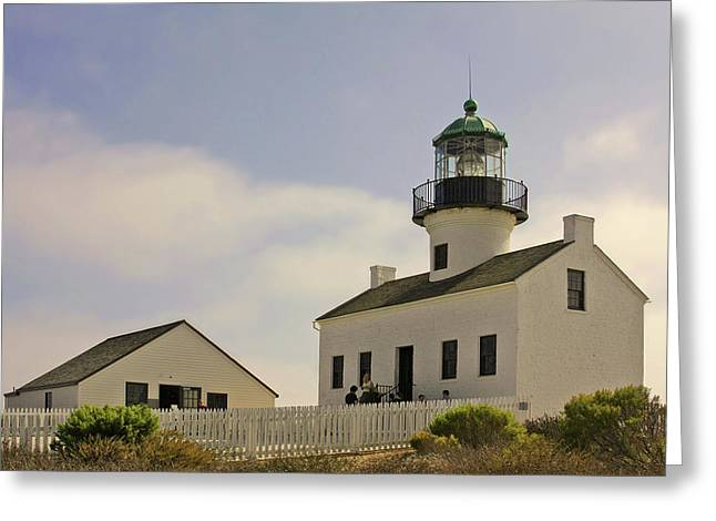 Crest Greeting Cards - Old Point Loma Lighthouse - Cabrillo National Monument San Diego CA Greeting Card by Christine Till