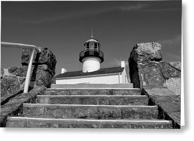 Old Point Loma Lighthouse - From The Stairwell  Greeting Card by Glenn McCarthy Art and Photography