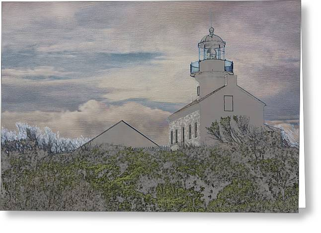 Southern Utah Greeting Cards - Old Point Loma Lighthouse Greeting Card by Linda Dunn