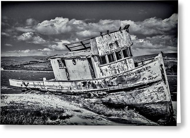 Old Point Reyes Black And White Greeting Card by Garry Gay