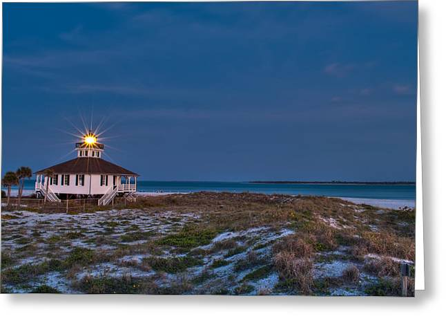 Old Port Boca Grande Lighthouse Greeting Card by Rich Leighton
