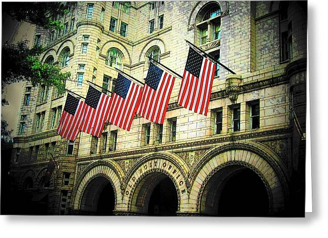 Washington Post Greeting Cards - Old Post Office Greeting Card by Joyce Kimble Smith