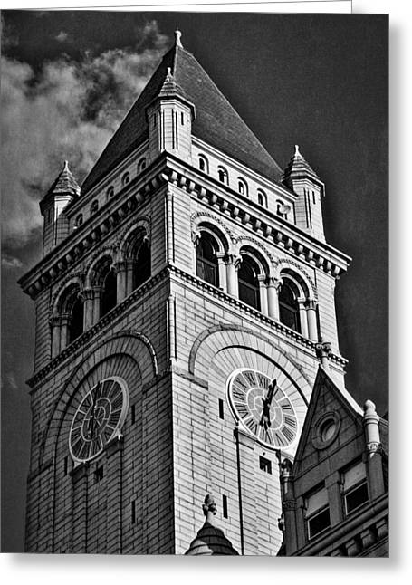 Grey Clouds Greeting Cards - Old Post Office Pavilion Tower #2 Greeting Card by Stuart Litoff