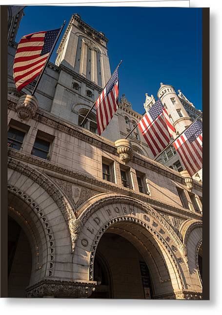 Washington Post Greeting Cards - Old Post Office Washington D C Greeting Card by Steve Gadomski