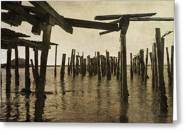 Mage Greeting Cards - Old Provincetown Wharf Greeting Card by Dave Gordon