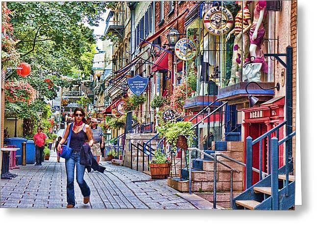 River View Greeting Cards - Old Quebec City Greeting Card by David Smith