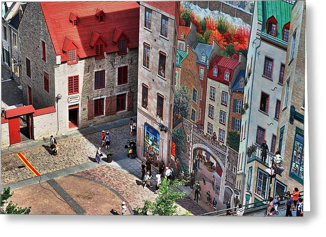 Chateau Greeting Cards - Old Quebec City Greeting Card by Paul O