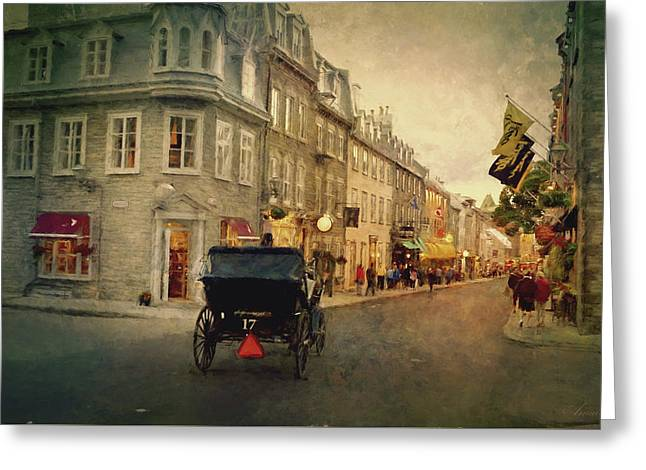 Old Quebec Greeting Card by Maria Angelica Maira