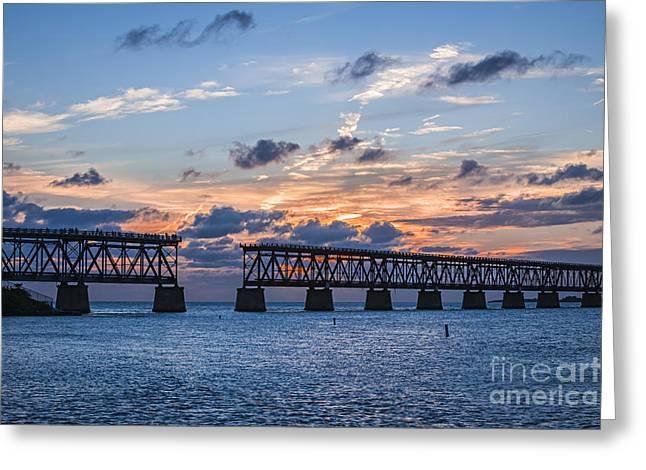 Old Rail Bridge At Florida Keys Greeting Card by Elena Elisseeva
