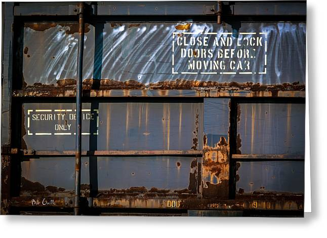 Old Railroad Boxcar  Greeting Card by Bob Orsillo