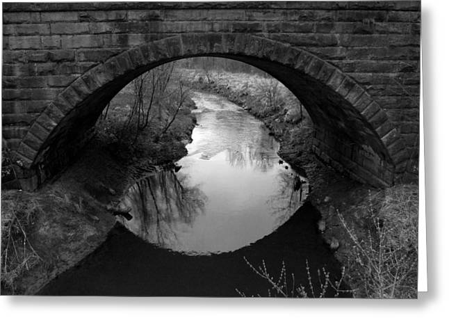 Old Railroad Bridge Greeting Card by Michael L Kimble