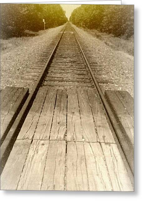 Tears Greeting Cards - Old Railroad Greeting Card by Cody Redden