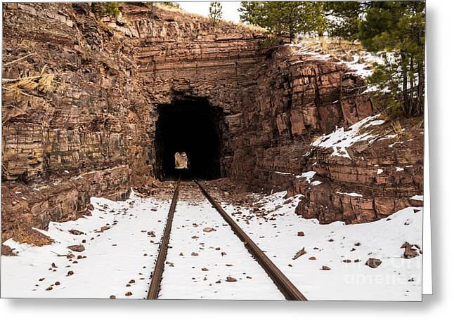 Old Railroad Tunnel Greeting Card by Sue Smith