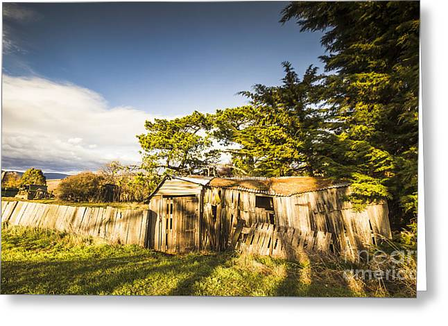 Old Ramshackle Wooden Shack Greeting Card by Jorgo Photography - Wall Art Gallery