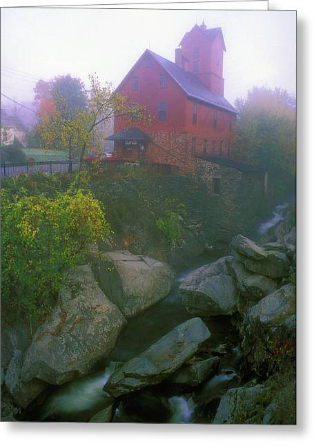 Old Red Mill Jericho Vermont Greeting Card by John Burk