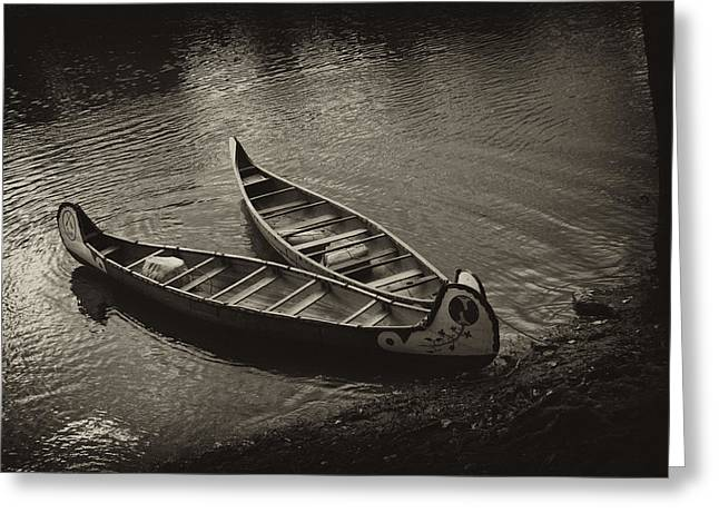 Canoe Photographs Greeting Cards - Old River Greeting Card by Off The Beaten Path Photography - Andrew Alexander