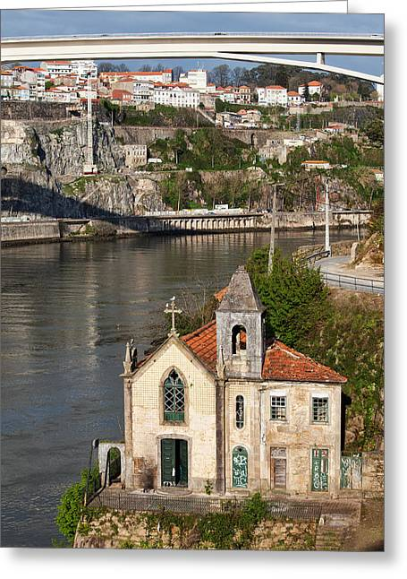Gaia Greeting Cards - Old Riverside Church in Portugal Greeting Card by Artur Bogacki