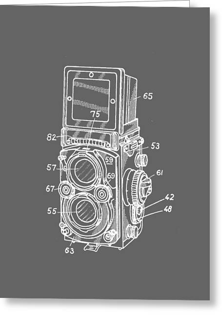 T Shirts Photographs Greeting Cards - Old Rollie Vintage Camera White T-shirt Greeting Card by Edward Fielding